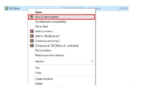 Click chuột phải -> Run as administator