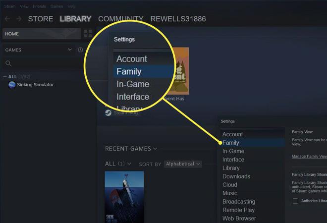 cách dùng Steam Family Sharing
