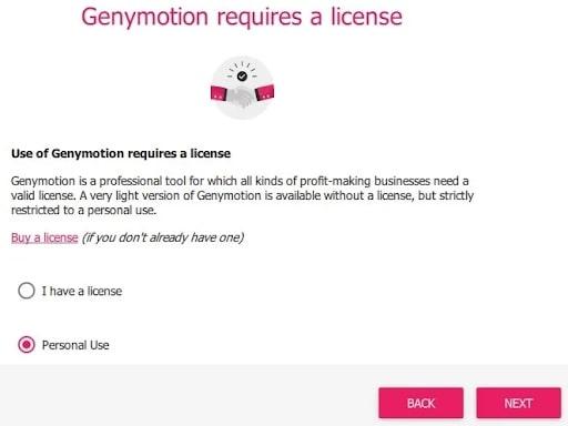 Chọn Personal Use nếu không có key bản quyền để active