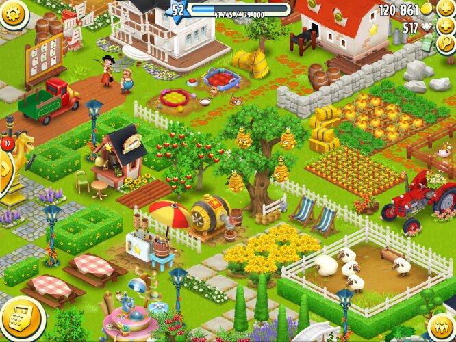 Hay Day kết hợp cả trồng trọt, chăn nuôi và giao thương