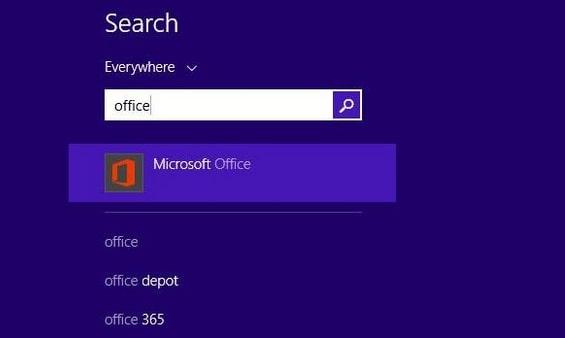 Nhập tổ hợp phím Window + Q để khởi chạy Microsoft Office