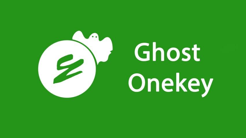 Onekey Ghost - phần mềm hỗ trợ sao lưu dữ liệu máy tính