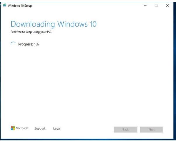 Chờ cho quá trình download hoàn thành
