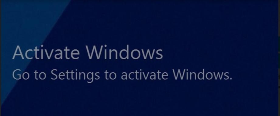 Thông báo Active windows