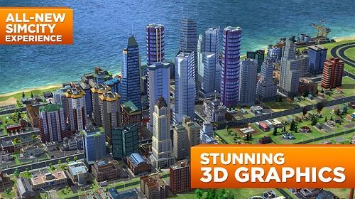 Đồ họa 3D sắc nét của SimCity Buildlt