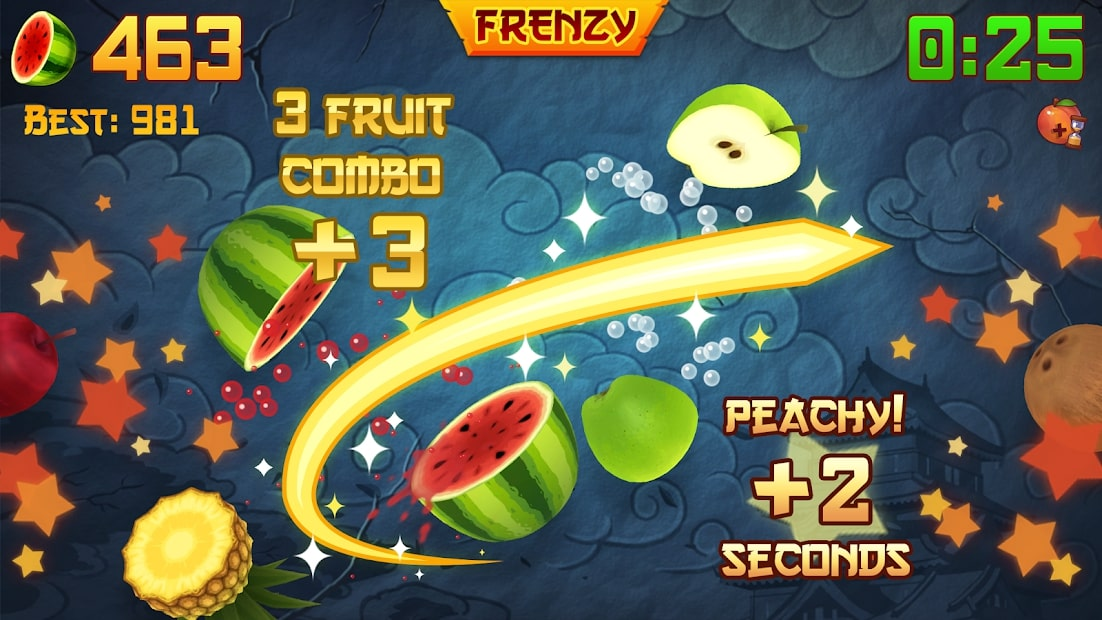 Hướng dẫn chơi Fruit Ninja