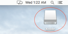 Nhấn vào biểu tượng ổ đĩa trên màn hình.