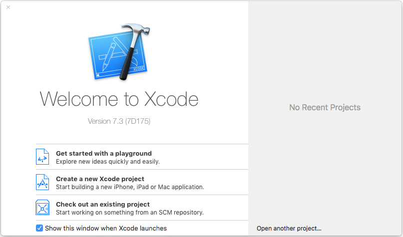 Giao diện phần mềm Xcode