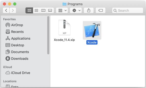 Nhấn chuột phải 2 lần vàoXcodeđể cài đặt.